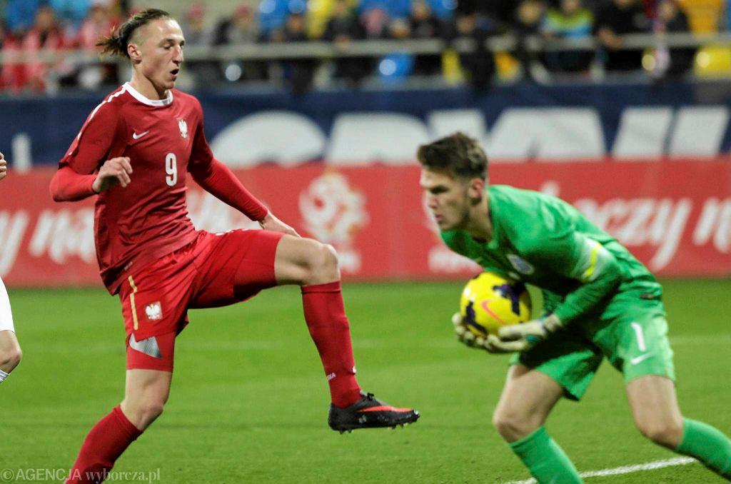W towarzyskim meczu reprezentacji do lat 18 Polska uległa w Gdyni Anglii 2:3. Paweł Krauz