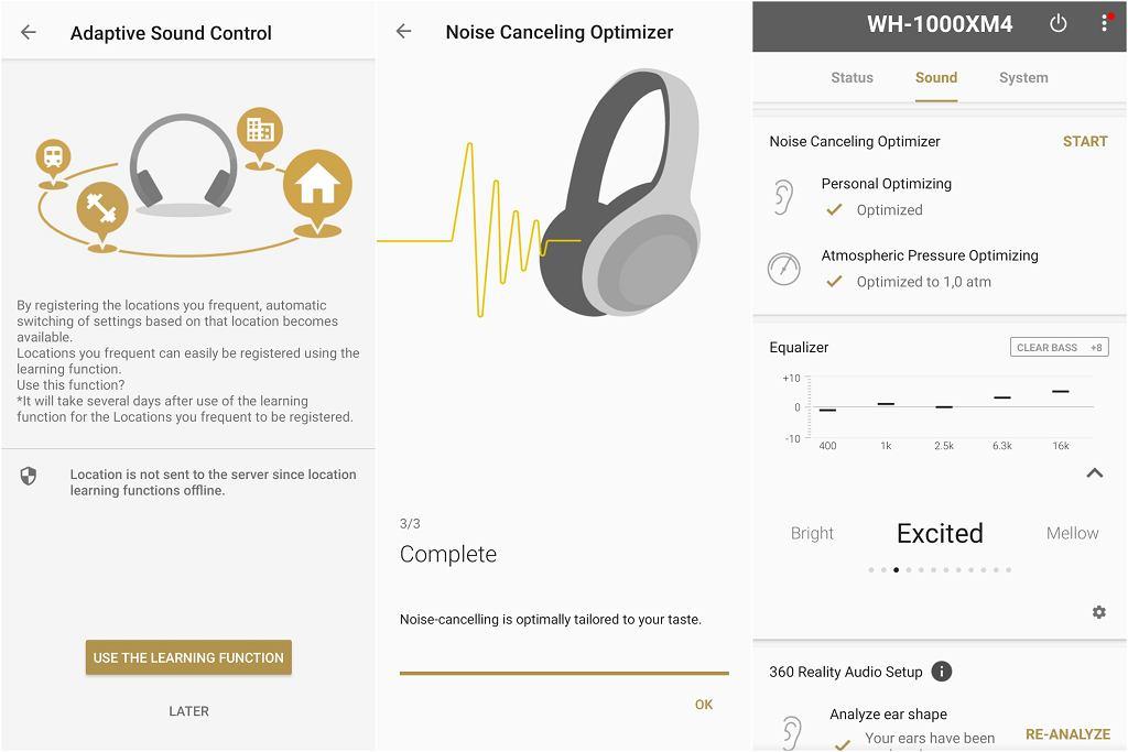 Aplikacja Sony Headphones