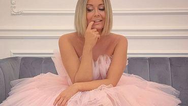 Małgorzata Rozenek w odważnej, różowej sukience z tiulu na pokazie kolekcji Giambattista Valli dla H&M. Fani zachwyceni