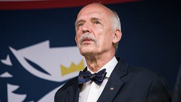Janusz Korwin-Mikke tłumaczy się z drzemki podczas inauguracji Sejmu IX kadencji