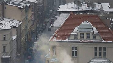 Dym z kominów nad Bydgoszczą
