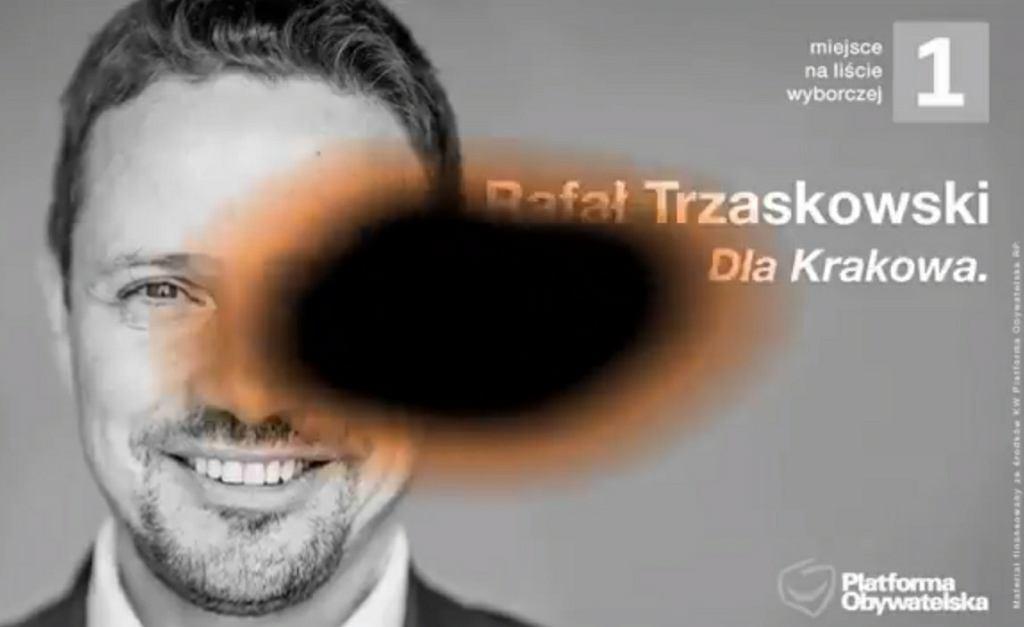 Fragment klipu Patryka Jakiego o Rafale Trzaskowskim