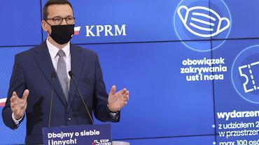 Konferencja prasowa premiera  w Warszawie