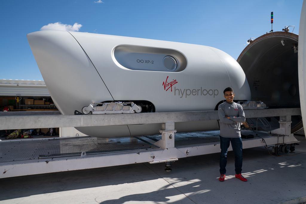 Virgin Hyperloop - test pasażerski Las Vegas