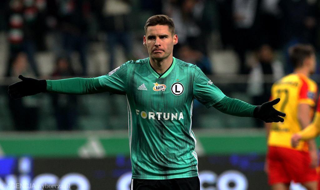 Legia - Korona 4:0. Strzelec drugiego gola Jarosław Niezgoda
