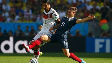 Antoine Griezmann w meczu z Niemcami (0:1)