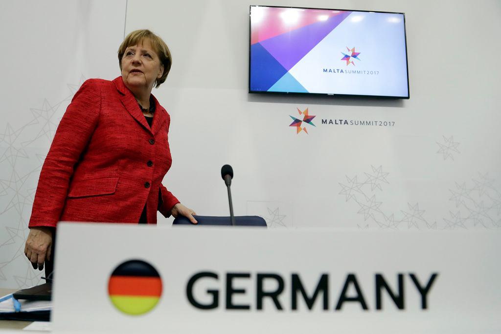 Kanclerz Niemiec Angela Merkel podczas szczytu unijnego na Malcie, w lutym 2017