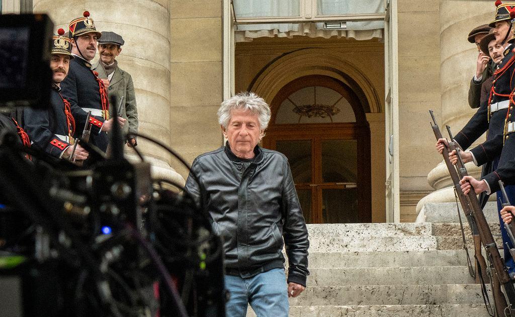 Roman Polański na planie filmu 'Oficer i szpieg'