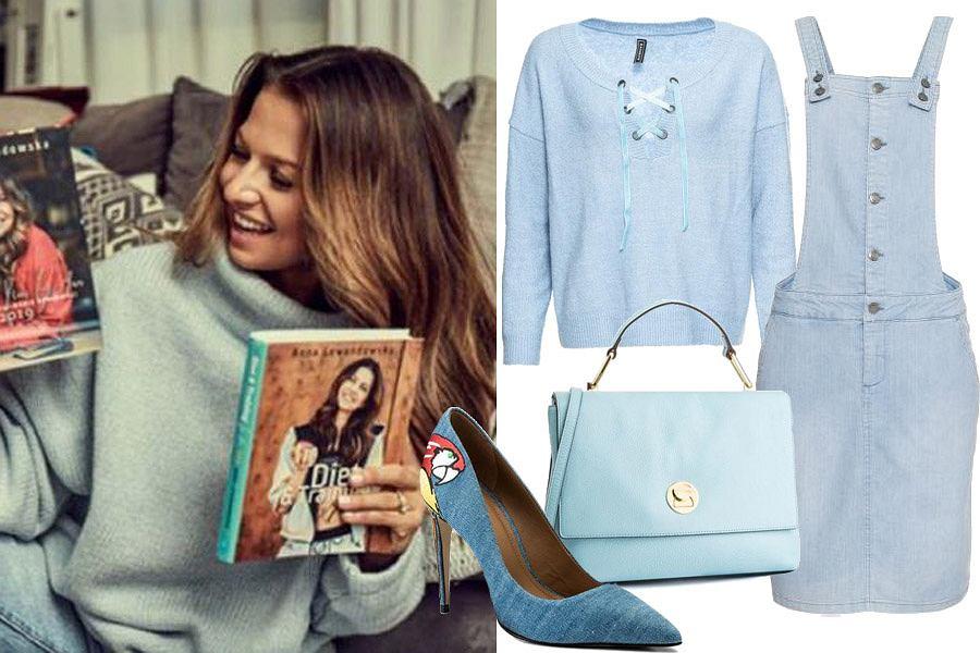 niebieskie ubrania / mat. partnera