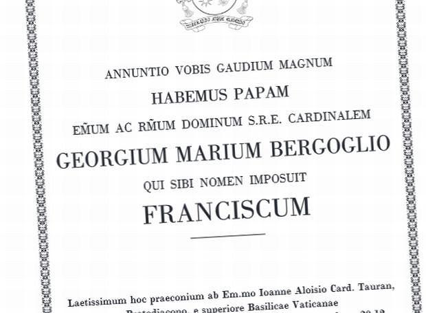 Fragment dokumentu ujawnionego przez Watykan. Jest w nim treść przemówienia kardynała seniora, który przestrzega innych purpuratów przed schizmą w Kościele