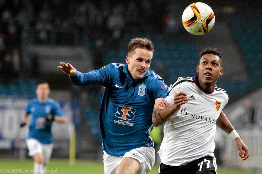 Lech Poznań - FC Basel 0:1. Tomasz Kędziora i Jean-Paul Boetius