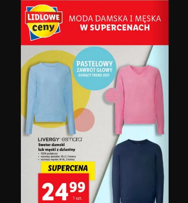 Modne swetry w Lidlu za 24,99 zł. To hit na ten sezon!