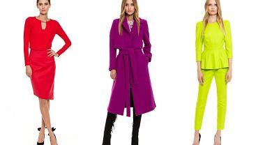Kolorowe stylizacje z ubraniami marki Simple