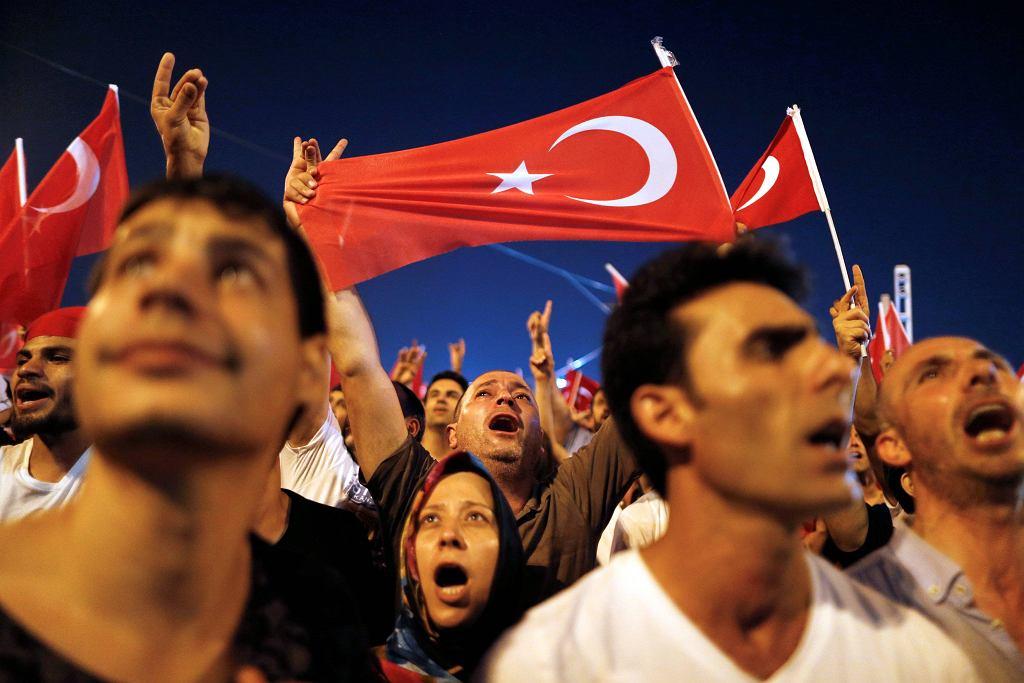 Zwolennicy prezydenta Turcji Recepa Erdogana
