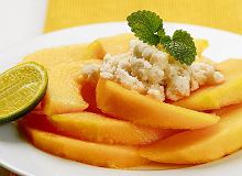 Melony z ziołową granitą - ugotuj