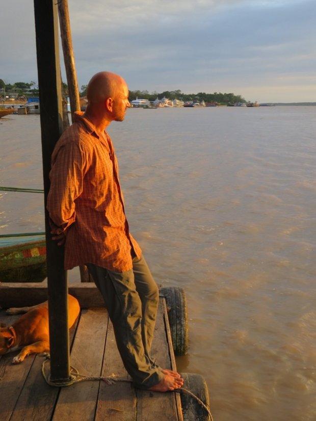 Dawid Andres - chwila nostalgii nad Amazonką w dzień wigilijny w Tabatinga