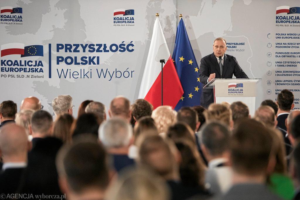 Konwencja regionalna Koalicji Europejskiej w Poznaniu, 27 kwietnia 2019.