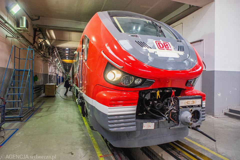 8.03.2018, Bydgoszcz, zakład Pesa, pociąg Link z przeznaczeniem na eksport do Niemiec.