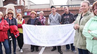 Protest pracowników z Ukrainy