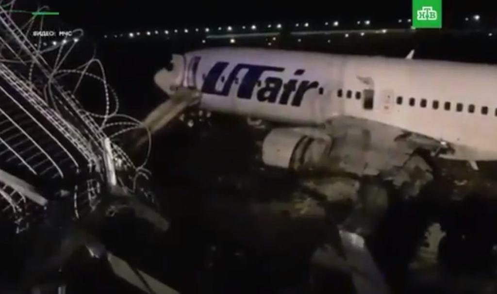 Wypadek samolotu pasażerskiego w Soczi