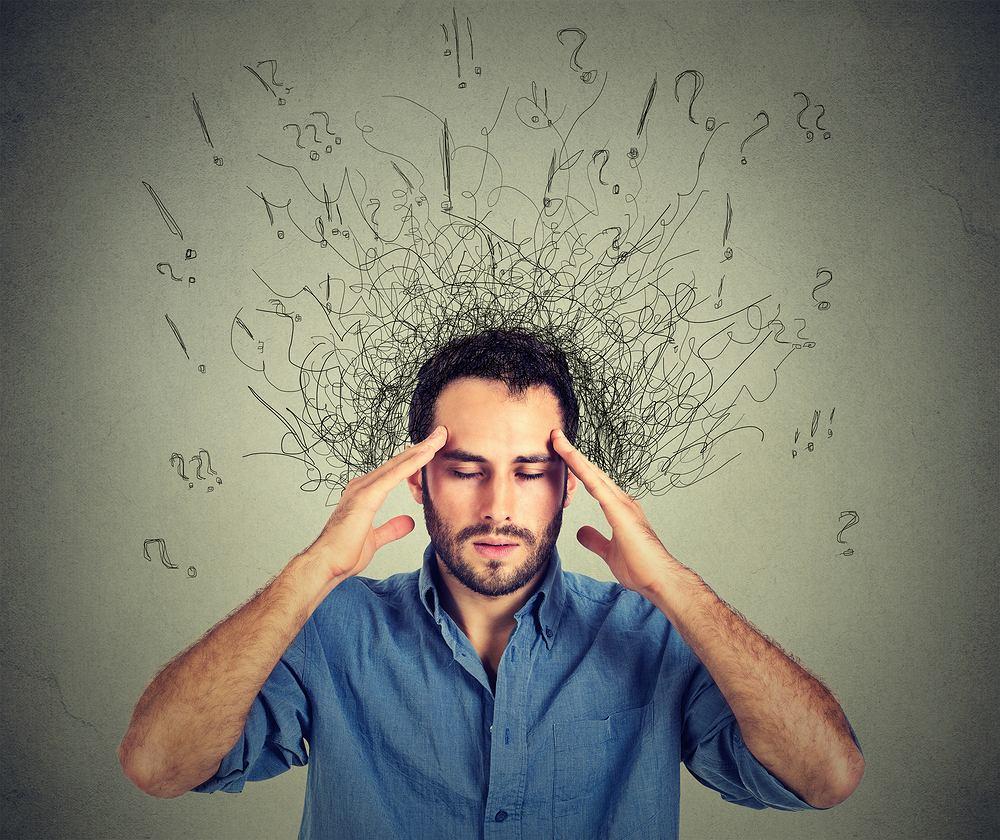 Natłok myśli może być objawem powaznej choroby, min. schizofrenii