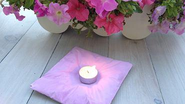 Jak zrobić świecznik w kształcie poduszki?