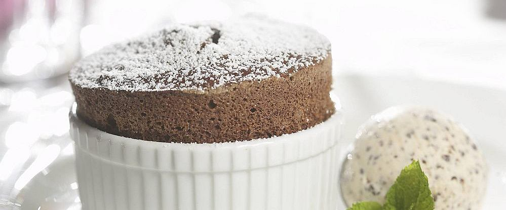 Suflet czekoladowy z lodami