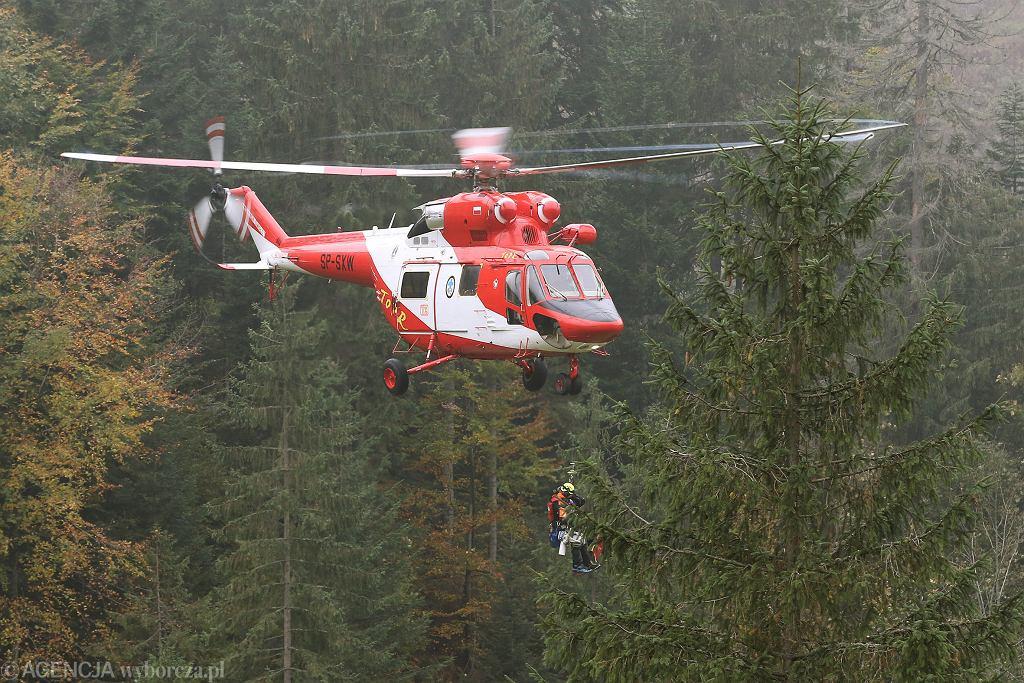 Akcja ratunkowa w Tatrach (zdjęcie ilustracyjne)