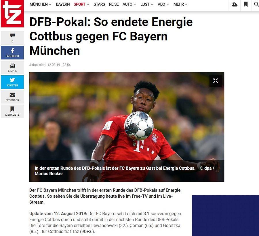 Niemcy podzieleni w sprawie gola Lewandowskiego