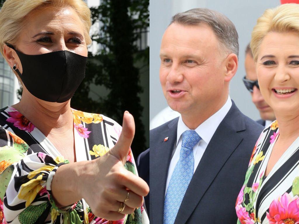 Agata i Andrzej Dudowie podczas wydarzenia 'Bezpieczne Wakacje z Parą Prezydencką'