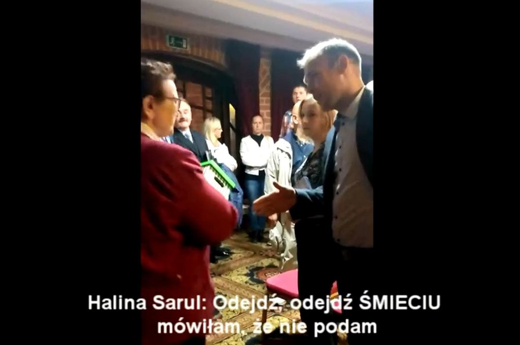 Halina Sarul i Paweł Andruszkiewicz po debacie