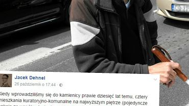 Jacek Dehnel o bezdomnym mężczyźnie.
