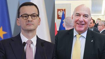 Premier Mateusz Morawiecki i Tadeusz Kościński, szef resortu finansow