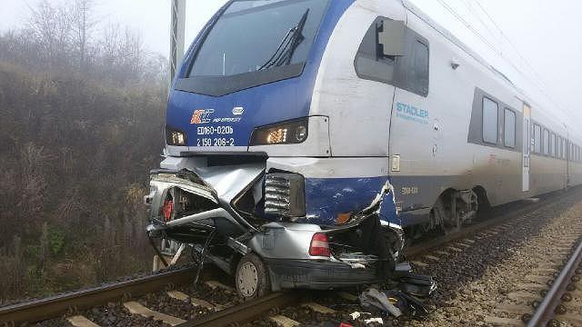 Wypadek na przejeździe kolejowym w Piotrkowie Trybunalskim