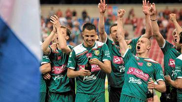 Piłkarze Śląska świętują mistrzostwo