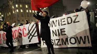 11 listopada. Protest Koalicji Antyfaszystowskiej w Warszawie