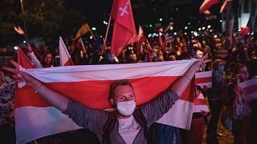 Gdańsk solidarny z Białorusią. Tusk:
