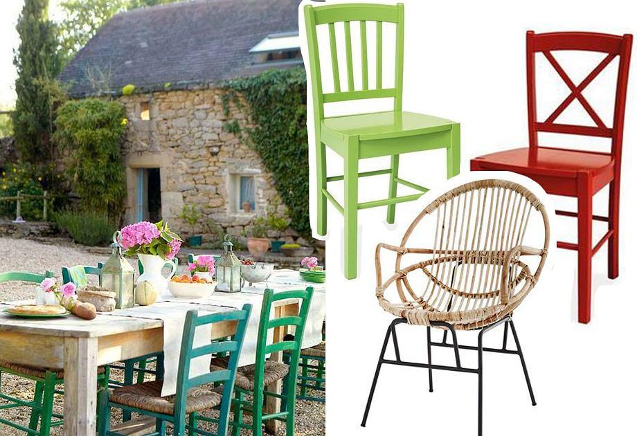 Drewniane krzesła na balkon lub taras