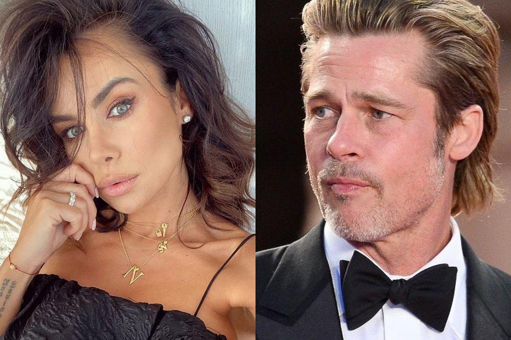Natalia Siwiec w kampanii reklamowej z Bradem Pittem