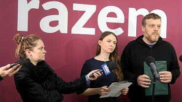 Konferencja prasowa partii Razem