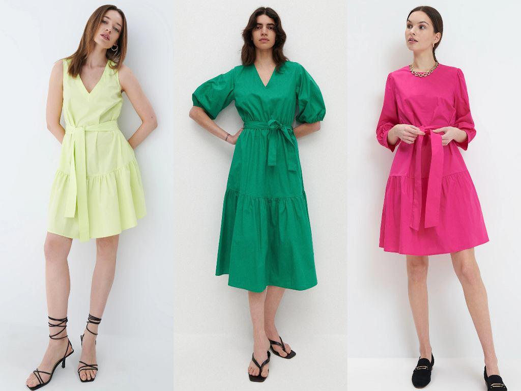 Sukienki z wiązaniem w talii