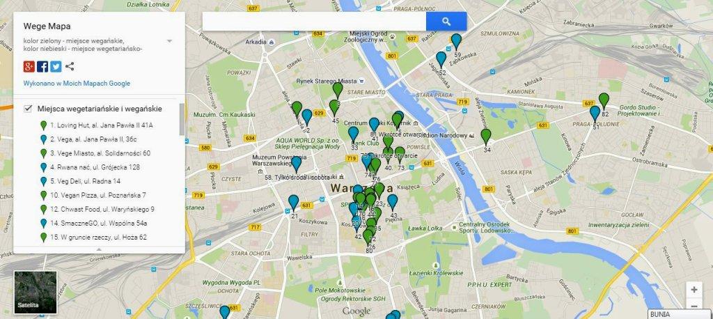 Wege Mapa
