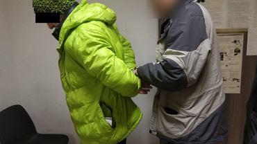 Sebastian S. podczas zatrzymania przez policję