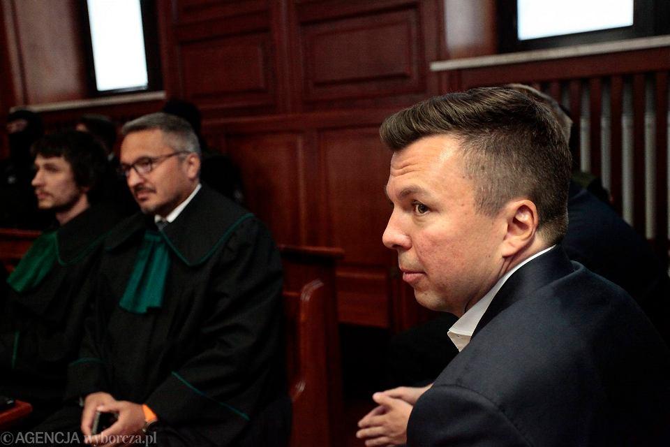 Marek Falenta podczas pierwszego dnia procesu ws. afery taśmowej