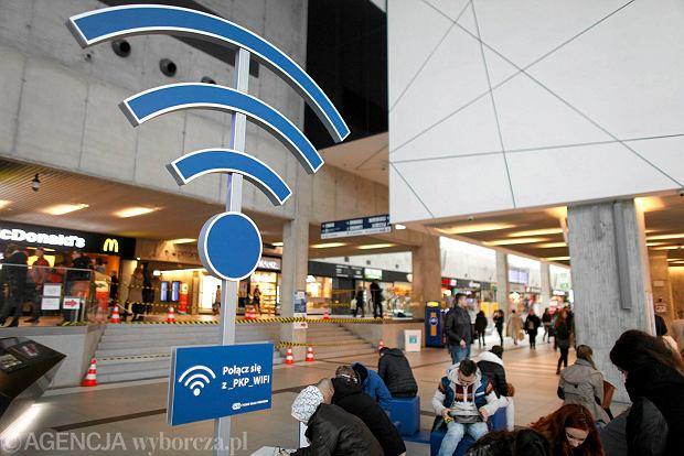 Strefa Wi-Fi na terenie dworca PKP w Katowicach