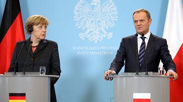 Kanclerz Angela Merkel i premier Donald Tusk