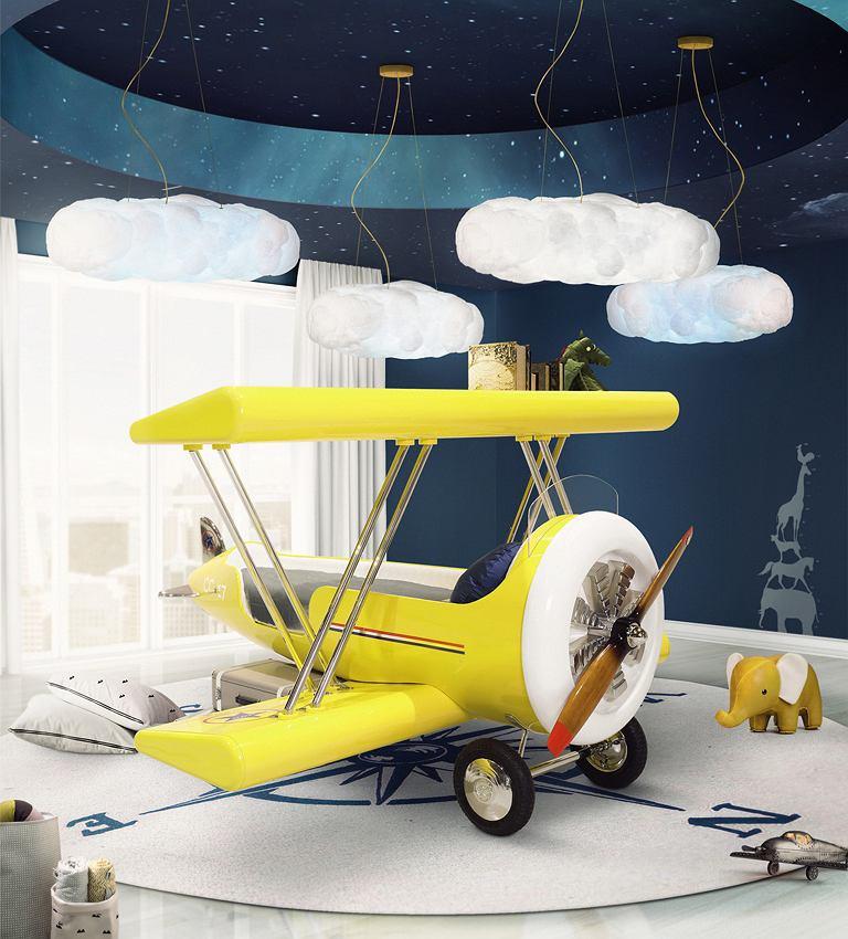 Łózko dziecięce samolot