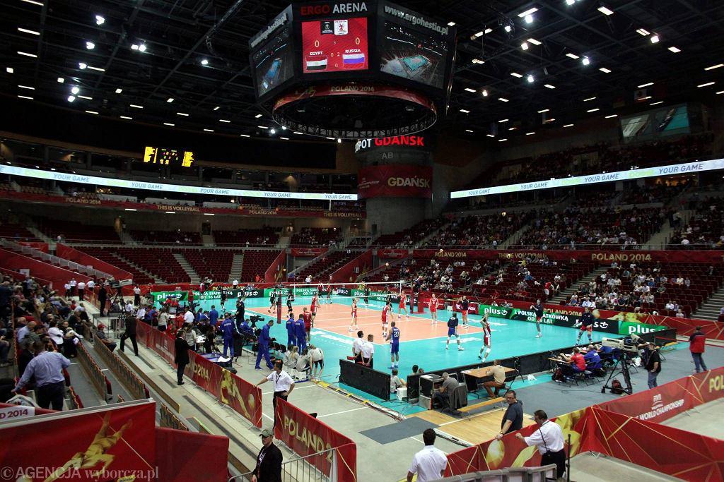 Ergo Arena podczas meczu mistrzostw świata Polska 2014