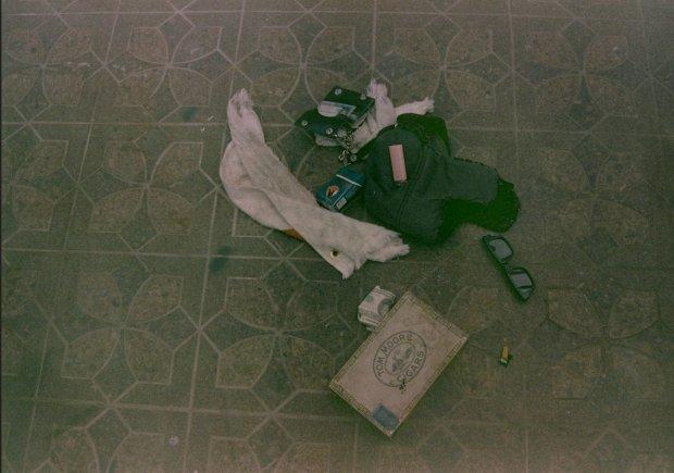 Rzeczy znalezione w miejscu śmierci Kurta Cobaina w 1994 roku.