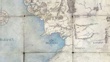 Mapa ze strony Amazona poświęconej serialowi 'Władca Pierścieni'